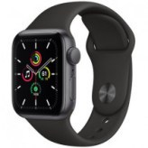 Apple Watch Series SE GPS + LTE 44mm Space Gray Aluminium Case with Black Sport Band (MYER2)