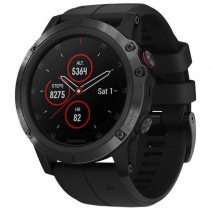 Смарт-часы Garmin Fenix 5x Plus Sapphire Black with Black Band (010-01989-00)