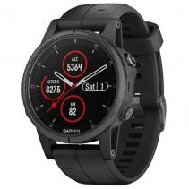 Смарт-часы Garmin Fenix 5s Plus Sapphire Black with Black Band (010-01987-02)