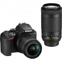 Зеркальный фотоаппарат Nikon D3500 kit (18-55mm + 70-300mm) (Англ меню)