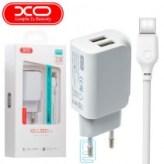 Сетевое ЗУ XO L35D 2.1A/2USB + MicroUSB - White