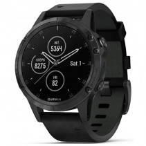 Смарт-часы Garmin Fenix 5 Plus Sapphire Black with Black Leather Band (010-01988-06)