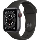 Apple Watch Series 6 GPS + Cellular 40mm Space Gray Aluminum Case w. Black Sport B. (M02Q3/M06P3)