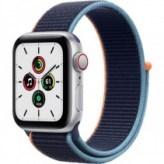 Apple Watch Series SE GPS + LTE 40mm Silver Aluminum Case w. Deep Navy Sport Loop (MYE92/MYEG2)