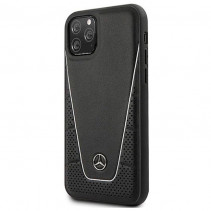 Чехол Mercedes Benz Leather Hard Case Quilted and Smooth for iPhone 11 Pro Max - Black