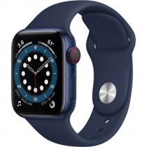 Apple Watch Series 6 GPS + Cellular 40mm Blue Aluminum Case w. Deep Navy Sport B. (M02R3)