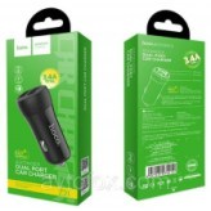 Автомобильное ЗУ Hoco Z21 2 USB Port 3.4A Fast Charge (Black)
