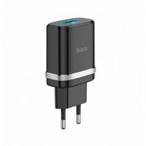Сетевое ЗУ Hoco C12Q Type-C Smart QC3.0 быстрая зарядка (Black)