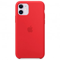 Чехол Apple iPhone 11 Silicone Сase - Red (Original copy)