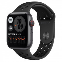 Apple Watch Nike Series 6 GPS + Cellular 44mm Space Gray Aluminum Case w. Anthracite/Black Nike Sport B. (MG2J3)