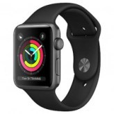 Apple Watch Series 3 GPS 38mm Space Gray Aluminum Case with Black Sport Band (MQKV2)