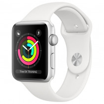 Apple Watch Series 3 GPS 42mm Silver Aluminum Case with White Sport Band (MTF22)