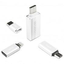 Адаптеры Wiwu OTG Agapter: Type-C to Micro USB; Lightning to Type-C; Micro USB to Type-C; Type-C to USB A 3.0