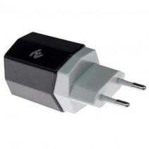 Сетевое зарядное устройство 2E Dual USB 3.4A Wall Charger (2E-WCRT58-B) Black