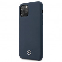 Чехол Mercedes Benz Liquid Silicone for iPhone 11 Pro - Navy