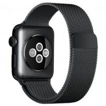 Ремешок Apple Watch 38mm Milanese Loop Black (MLJJ2)