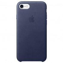 Чехол Apple iPhone 8 Leather Case Midnight Blue (MQH82)