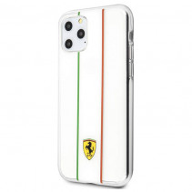 Чехол Ferrari Silicone Case Italy for iPone 11 Pro - Transparent Clear