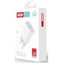 Зарядное устройство XO L77 20W/1 USB-C White