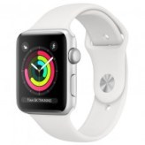 Apple Watch Series 3 GPS 38mm Silver Aluminum Case with White Sport Band (MTEY2)