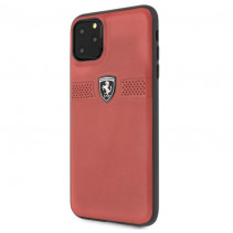 Чехол Ferrari Leather Hard Case Off Track Grained for iPhone 11 Pro Max - Red
