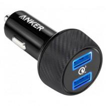 Автомобильное зарядное устройство Anker PowerDrive - 2 Quick Charge 3.0 Ports V3 (Black)