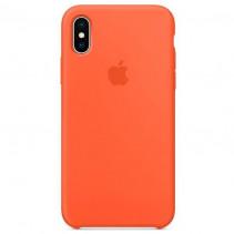 Чехол Apple iPhone X Silicone Case Orange (High copy)