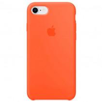 Чехол Apple iPhone 8 Silicone Case Spicy Orange (Original copy)