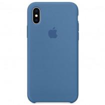 Чехол Apple iPhone X Silicone Case Denim Blue (Original copy)