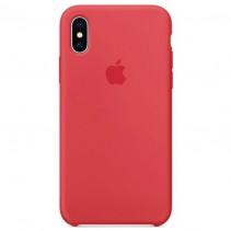 Чехол Apple iPhone X Silicone Case Red Raspberry (Original copy)