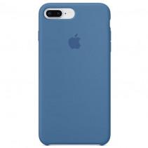 Чехол Apple iPhone 8 Plus Silicone Case Denim Blue (Original copy)