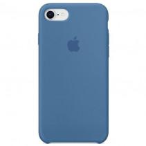 Чехол Apple iPhone 8 Silicone Case Denim Blue (Original copy)
