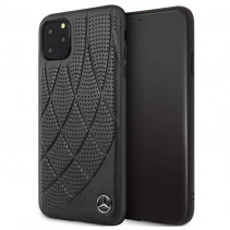 Чехол Mercedes Benz Leather Hard Case Quilted Perforated Genuine for iPhone 11 Pro Max - Black