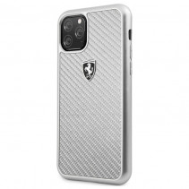 Чехол Ferrari Carbon Hard Case Heritage for iPhone 11 Pro - Silver