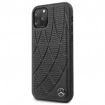Чехол Mercedes Benz Leather Hard Case Quilted Perforated for iPhone 11 Pro - Black