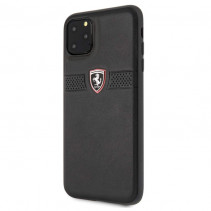 Чехол Ferrari Leather Hard Case Off Track Grained for iPhone 11 Pro Max - Black