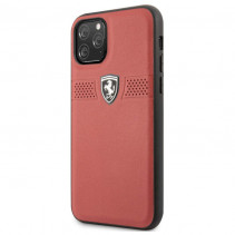 Чехол Ferrari Leather Hard Case Off Track Grained for iPhone 11 Pro - Red