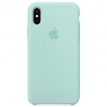 Чехол Apple iPhone X Silicone Case Marine Green (Original copy)