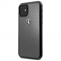 Чехол Ferrari Carbon Hard Case Heritage for iPhone 11 Pro Max - Black