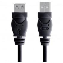 Кабель USB 2.0 (AM/AF) BELKIN 4.8м (удлинитель) Black (F3U153cp4.8M)