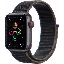 Apple Watch Series SE GPS + LTE 40mm Space Gray Aluminum Case w. Charcoal Sport Loop (MYEE2/MYEL2)