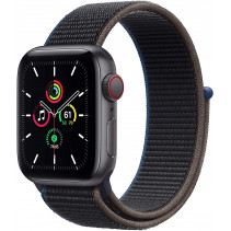 Apple Watch Series SE GPS + LTE 44mm Space Gray Aluminum Case w. Charcoal Sport Loop (MYEU2/MYF12)