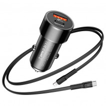 Автомобильное ЗУ Baseus Small Screw 36W Type-C PD+USB Quick Charge Car Charger Black (CAXLD-A01)