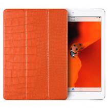 Чехол-книжка Verus Crocodile Leather Case for iPad 2018 (New) / 2017 (Orange)