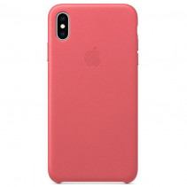 Чехол Apple iPhone Xs Max Leather Peony Pink (MTEX2)