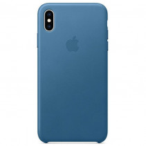 Чехол Apple iPhone Xs Max Leather Case Cape Cod Blue (MTEW2)