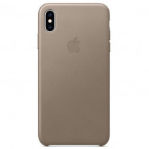 Чехол Apple iPhone Xs Max Leather Taupe (MRWR2)