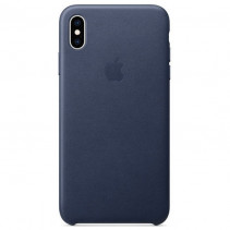 Чехол Apple iPhone Xs Max Leather Midnight Blue (MRWU2)