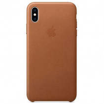 Чехол Apple iPhone Xs Max Leather Saddle Brown (MRWV2)