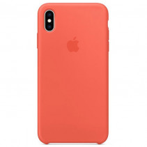 Чехол Apple iPhone Xs Max Silicone Case Nectarine (Original copy)
